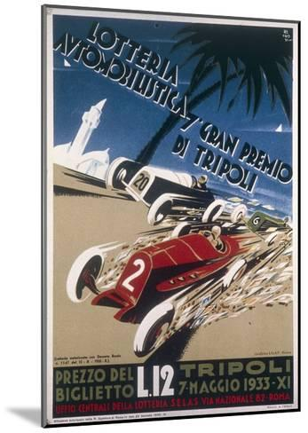 Automobile Lottery, Seventh Tripoli Grand Prix, May 7, 1933--Mounted Giclee Print
