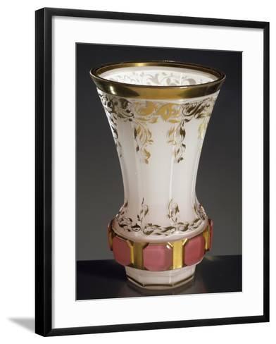 Drinking Glass in Transparent Glass Coloured White on Inside, 1830, Bohemia--Framed Art Print