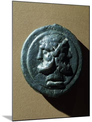 Copper Coin Bearing Image of Janus in Relief, Roman Coins--Mounted Giclee Print