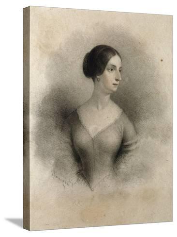 Portrait of Widow of Count Decio Stampa, Second Wife of Alessandro Manzoni Teresa Borri--Stretched Canvas Print