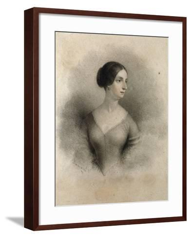 Portrait of Widow of Count Decio Stampa, Second Wife of Alessandro Manzoni Teresa Borri--Framed Art Print