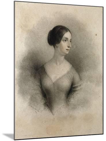 Portrait of Widow of Count Decio Stampa, Second Wife of Alessandro Manzoni Teresa Borri--Mounted Giclee Print