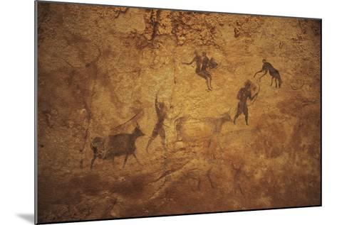 Algeria, Sahara Desert, Tassili-N-Ajjer National Park, Rock Carvings Depicting Daily Life--Mounted Giclee Print