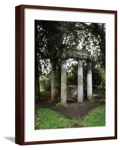 Italy, Pompeii, Triangular Forum, Tholos with Sacred Deep Well--Framed Art Print