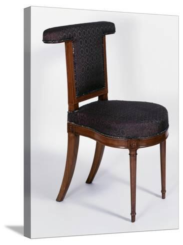 Directoire Style Solid Cuban Mahogany Voyeuse Chair, France, Late 18th-Early 19th Century--Stretched Canvas Print