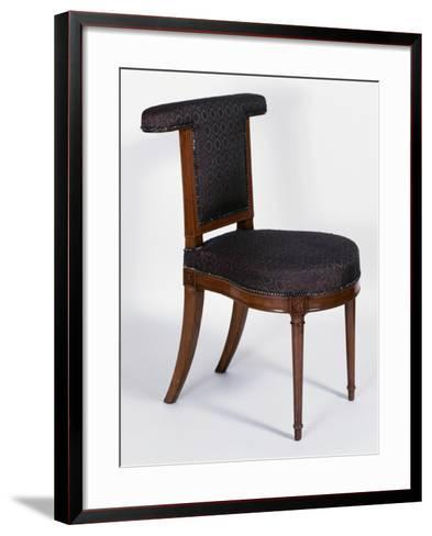 Directoire Style Solid Cuban Mahogany Voyeuse Chair, France, Late 18th-Early 19th Century--Framed Art Print
