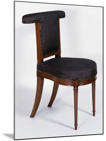 Directoire Style Solid Cuban Mahogany Voyeuse Chair, France, Late 18th-Early 19th Century--Mounted Giclee Print