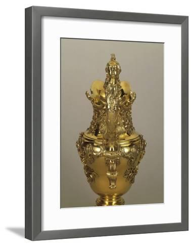 Decorated, Gilded Silver Jug by George Wickes, 1735--Framed Art Print