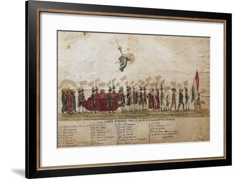 Funeral of Democracy of Undemocratic Satire, 1799, Italy--Framed Art Print