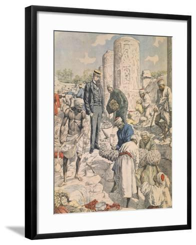 Archaeological Excavations in Antinoe from Petit Journal, 1904--Framed Art Print