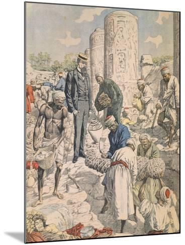 Archaeological Excavations in Antinoe from Petit Journal, 1904--Mounted Giclee Print