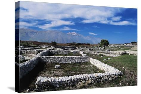 Ruins of Archaeological Site of Juvanum, Montenerodomo, Abruzzo, Italy, 3rd-4th Century BC--Stretched Canvas Print