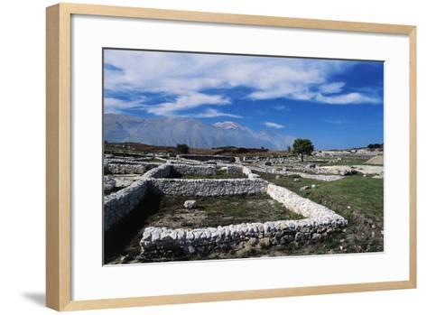 Ruins of Archaeological Site of Juvanum, Montenerodomo, Abruzzo, Italy, 3rd-4th Century BC--Framed Art Print
