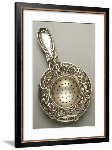 Silver Strainer with Cherubs, Chased and Embossed, 1880--Framed Art Print