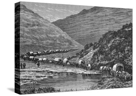 Caravan of Pioneers--Stretched Canvas Print