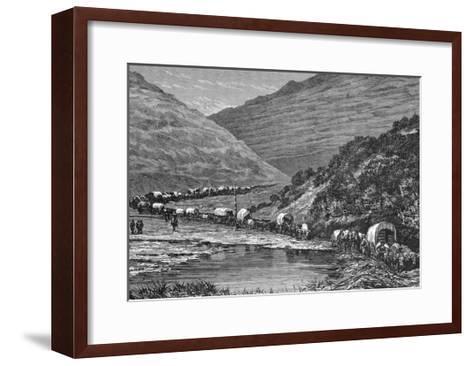 Caravan of Pioneers--Framed Art Print