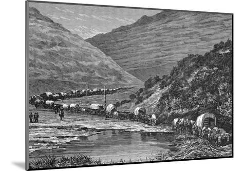 Caravan of Pioneers--Mounted Giclee Print