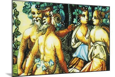 Plate Depicting Triumph of Bacchus, Ceramic, Patanazzi Workshop, Urbino, Marche, Detail--Mounted Giclee Print