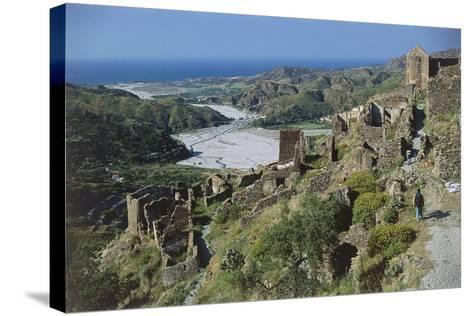 Italy, Calabria Region, Aspromonte National Park, Amendolea Castle--Stretched Canvas Print