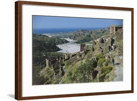 Italy, Calabria Region, Aspromonte National Park, Amendolea Castle--Framed Art Print