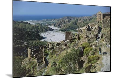 Italy, Calabria Region, Aspromonte National Park, Amendolea Castle--Mounted Giclee Print