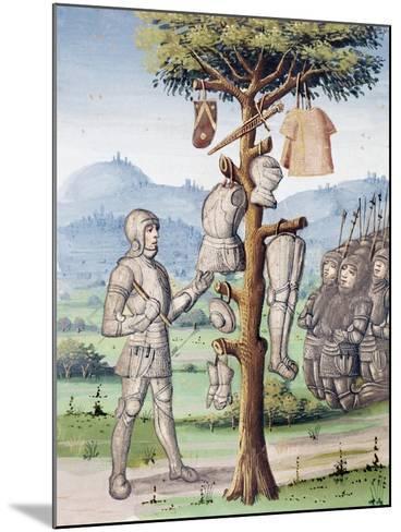 Aeneas Displaying Spoils of War Taken from Etruscan King Mezenzio--Mounted Giclee Print