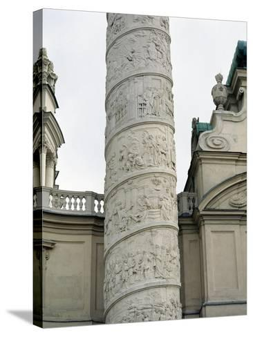 Right Column with Reliefs Depicting Scenes from the Life of Saint Charles Borromeo--Stretched Canvas Print