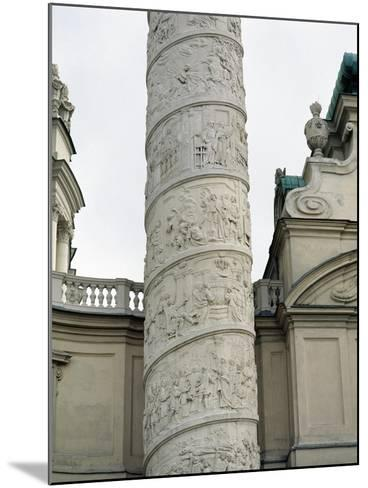 Right Column with Reliefs Depicting Scenes from the Life of Saint Charles Borromeo--Mounted Giclee Print