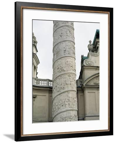 Right Column with Reliefs Depicting Scenes from the Life of Saint Charles Borromeo--Framed Art Print