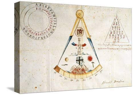 Alphabet and Symbols of Carbonari, 1815--Stretched Canvas Print
