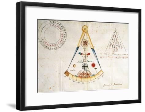 Alphabet and Symbols of Carbonari, 1815--Framed Art Print