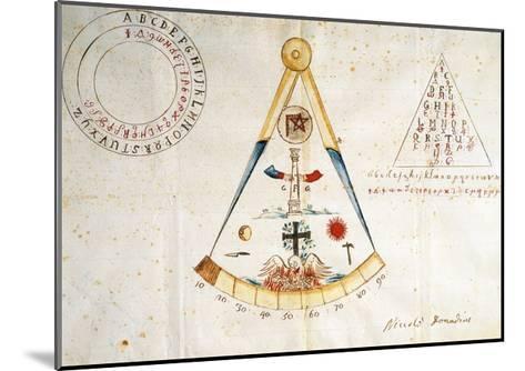 Alphabet and Symbols of Carbonari, 1815--Mounted Giclee Print