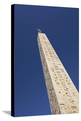 Egyptian Obelisk at Piazza Del Popolo, Rome, Italy--Stretched Canvas Print