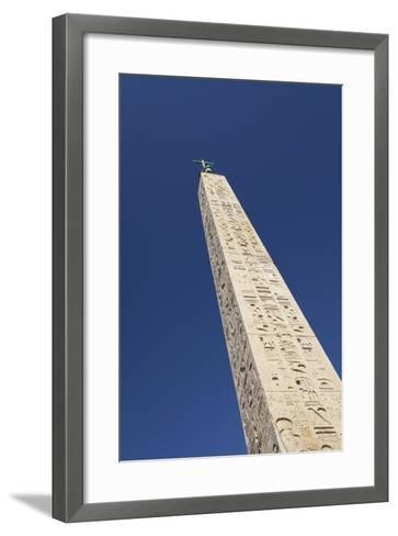 Egyptian Obelisk at Piazza Del Popolo, Rome, Italy--Framed Art Print