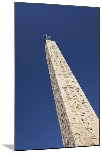 Egyptian Obelisk at Piazza Del Popolo, Rome, Italy--Mounted Giclee Print
