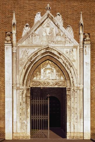 Portal of Church of San Giovanni Evangelista, Ravenna, Emilia-Romagna, Italy--Stretched Canvas Print