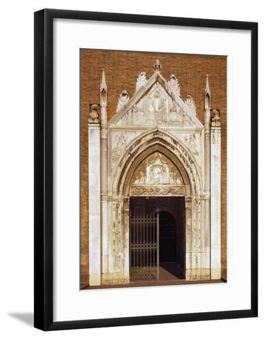 Portal of Church of San Giovanni Evangelista, Ravenna, Emilia-Romagna, Italy--Framed Art Print