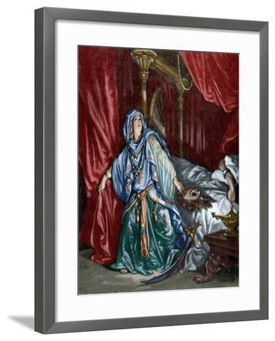 Judith after Behead the Assyrian General Holofernes--Framed Art Print