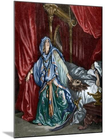 Judith after Behead the Assyrian General Holofernes--Mounted Giclee Print