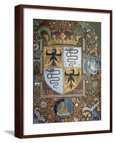 Galeazzo Maria Sforza's Coat of Arms, Miniature, Heraldry, Italy--Framed Art Print