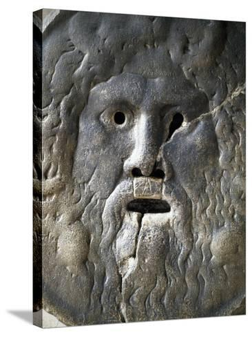 Mouth of Truth Depicting River God, Basilica of Saint Mary in Cosmedin, Rome, Italy--Stretched Canvas Print
