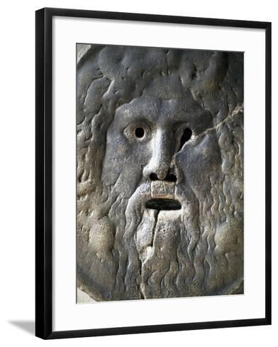 Mouth of Truth Depicting River God, Basilica of Saint Mary in Cosmedin, Rome, Italy--Framed Art Print