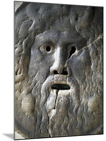 Mouth of Truth Depicting River God, Basilica of Saint Mary in Cosmedin, Rome, Italy--Mounted Giclee Print