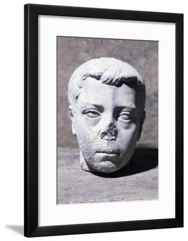 Male Head, Sculpture--Framed Art Print