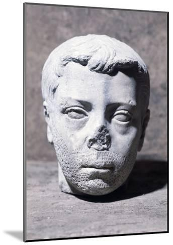 Male Head, Sculpture--Mounted Giclee Print