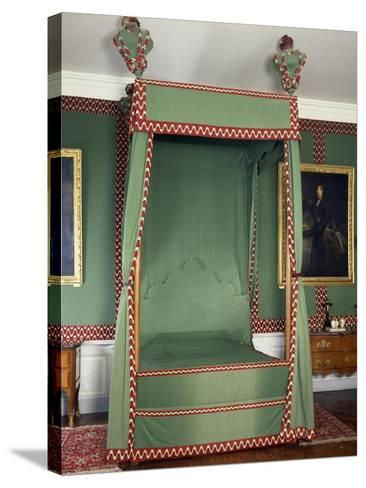 Original Louis XIII Style Canopy on Bed Made in Recent Times, France--Stretched Canvas Print