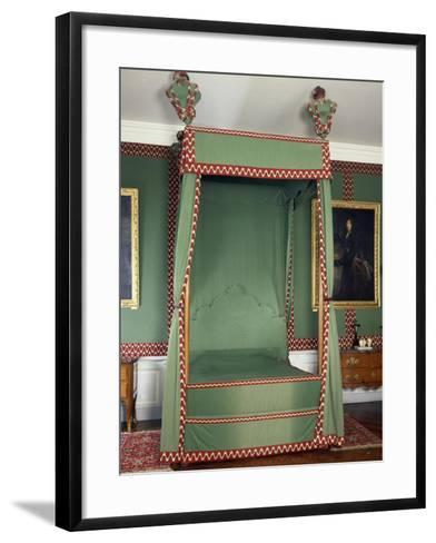 Original Louis XIII Style Canopy on Bed Made in Recent Times, France--Framed Art Print