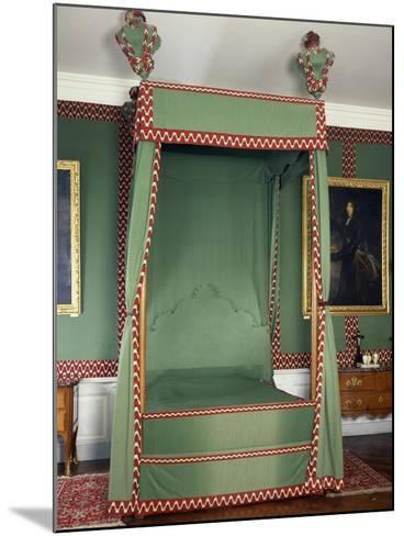 Original Louis XIII Style Canopy on Bed Made in Recent Times, France--Mounted Giclee Print