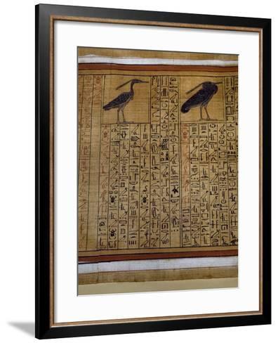 Book of the Dead, Tomb of Kha, Egypt--Framed Art Print