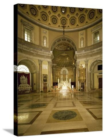 Central Aisle and High Altar of Church of Saint Charles Borromeo--Stretched Canvas Print